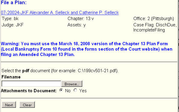 Amend a Chapter 13 Plan | Western District of Pennsylvania ...